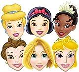 Disney Princess Party - Mixed Princess Face Masks x 6