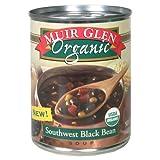 Muir Glen Organic Soup, Southwest Black Bean, 19-Ounce Cans (Pack of 12) ~ Muir Glen