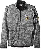 NFL Minnesota Vikings Men's Fast Pace Half Zip Pullover Top, Heather Grey, Large