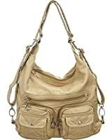 Utilitarian ''Juniper'' Slouchy Shoulder Hobo Bag