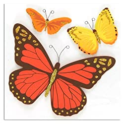 Martha Stewart Crafts Red And Orange Butterfly Stickers By The Package