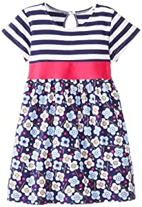 Zutano Girls 2-6X Blaue Blumen Tie Waist Dress by Zutano