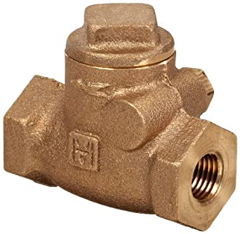 Milwaukee Valve UP509 Series Bronze Swing Check Valve, Potable Water Service, NPT Female