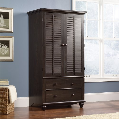 Why Should You Buy Sauder Harbor View Armoire in Antiqued Paint
