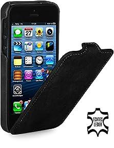 buy Stilgut Ultraslim Genuine Leather Case For Apple Iphone 5 & Iphone 5S, Black Vintage