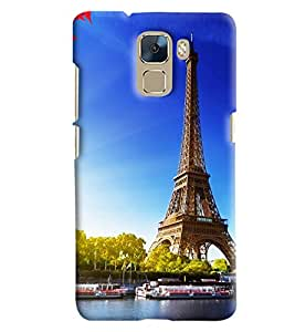 Blue Throat Effil Tower Printed Designer Back Cover/Case For Huawei Honor 7