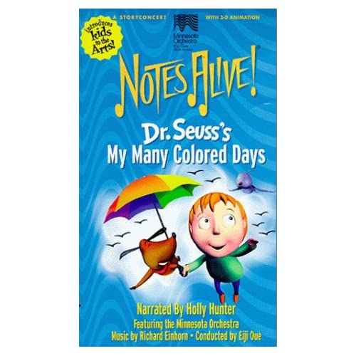 Amazon.com: Dr Seuss's My Many Colored Days (Notes Alive!) [VHS