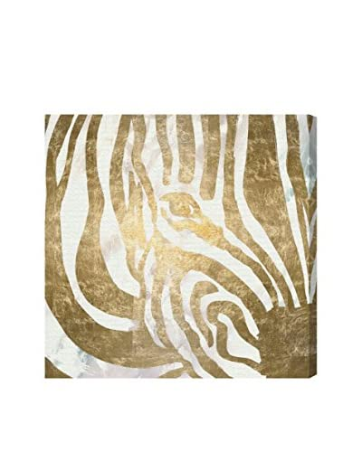 Oliver Gal Zebra Shine Canvas Art