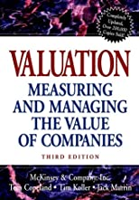 Valuation (Wiley Professional Banking & Finance)