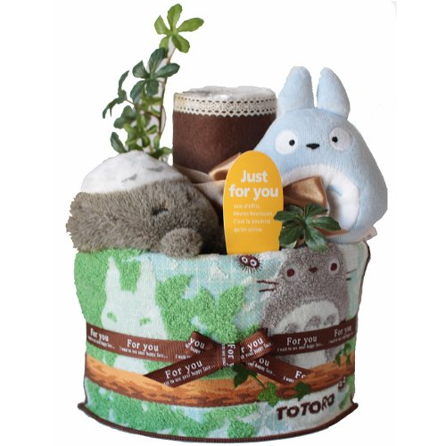 [New baby / diaper cake-my Neighbor Totoro toys & cute with towels. Two-stage consisting of a pampers Emily Rose diaper cake