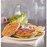 Trident Seafoods Unbreaded Alaska Salmon Burger, 10 Pound -- 1 each.