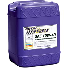 Royal Purple 05140 API-Licensed SAE 10W-40 High Performance Synthetic Motor Oil - 5 Gallon