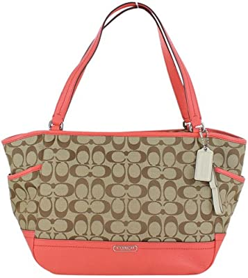Coach Carrie Signature Womens Tote Hangbag Purse 23297 by Coach