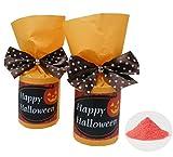 Amazon.co.jpドットのリボンがかわいい♪ハロウィンパッケージの入浴剤のプチギフト(1個)【結婚式 ハロウィンウェディング ハロウィンパーティー】