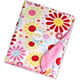 Baby Bucket Double Layer Velvet Fleece Newborn Printed Baby Blanket (PK S FLWR)