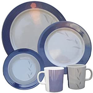 16-piece Melamine Azure Tableware Set