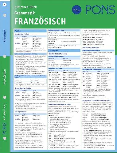 PONS Grammatik auf einen Blick. Französisch