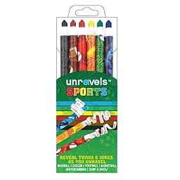 International Arrivals Unravels Sports Crayon Sticks, Set of 6