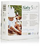 Naty by Nature Babycare Size 5 (24-55 lbs/11-25 Kg) Nappies - 4 x Packs of 23 (92 Nappies)