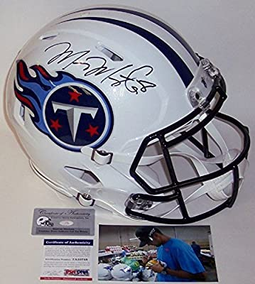 Marcus Mariota Autographed Hand Signed Tennessee Titans Full Size Authentic Speed Football Helmet - PSA/DNA