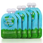 Reusable Food Pouch (6 Pack) - Easy t...