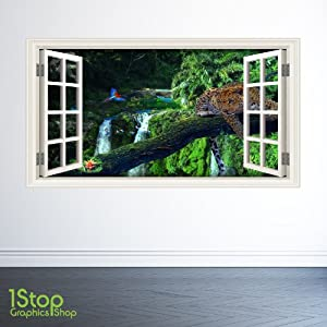 1Stop Graphics Shop AMAZON JUNGLE WINDOW WALL STICKER