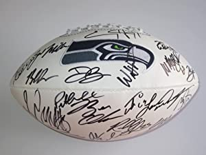 Buy 2012 Seattle Seahawks Team Signed Autographed Football Russell Wilson , Marshawn Lynch , Sidney... by Riddell