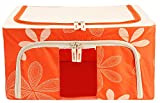 BlushBees Saree/Lehenga/Woolens Storage Organiser with Steel Frames. (Orange) 24L Small