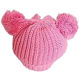 PromiseTrue Cute Unisex Baby Cap Knitting Hat Keeping Warm in WinterPink