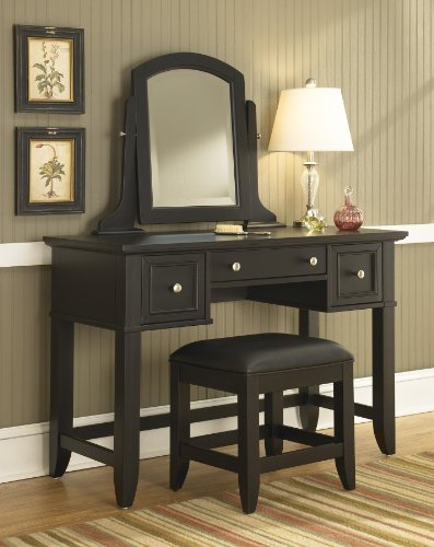 For Sale! Home Styles 5531-72 Bedford Vanity Table and Bench, Black Finish