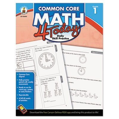 Carson Dellosa Common Core 4 Today Workbook, Math, Grade 1, 96 Pages (CDP104590) - 1