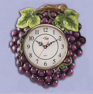 Amazon.com - Grapes Grapevine Kitchen Home Wall Decor Clock