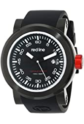 "red line Men's RL-50049-BB-01 ""Torque"" Stainless Steel Watch with Black Silicone Band"