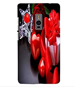 ColourCraft Love Collection Design Back Case Cover for ONEPLUS TWO