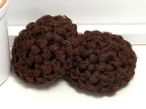 Set of 2 Brown Reusable Dish Scrubbers - Espresso Dish Scrubby (Espresso Dishes compare prices)