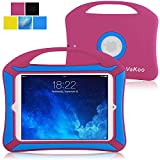 iPad Mini Case, VAKOO iPad Mini 3 2 1 Case Kids Proof Shockproof Drop Proof Soft Silicone Portable Light Weight Handle Case Cover for iPad Mini 3, iPad Mini Retina Display and iPad Mini (Pink/Blue)