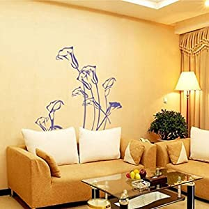 Great Value Wall Decor Wallpaper Decor Wall Art Mural Wall Stickers Decal Tulip Flowers Purple by Mzamzi