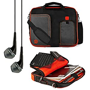 """Vangoddy Fire Red Pindar Messenger Bag for Sony Xperia Z2 / RCA Pro10 Editon / LG G Pad / Kobo Arc 10 HD / Nokia Lumia 2520 10.1"""" Tablets + Black available at Amazon for Rs.5843"""