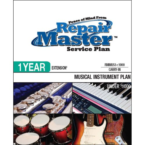 Repair Master - 1-Yr Ext Musical Instruments - Under $1000
