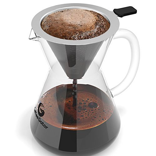 Coffee Gator Pour Over Coffee Maker, 400ml/3-Cup (Manual Dishwasher compare prices)