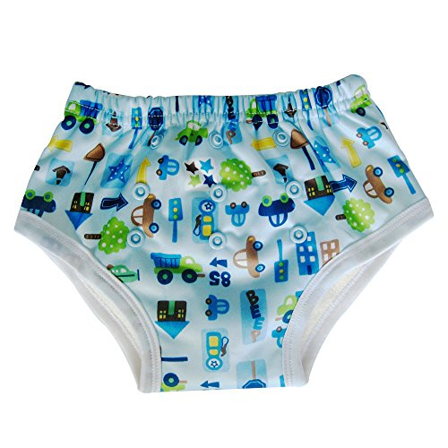 Potty Training Underwear Pants for Toddler / Bamboo Inner, Cars - 1