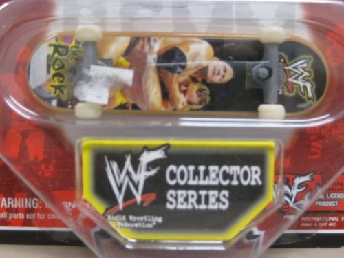 WWF Fast Action Mini Skate Board Collectors Series The Rock - 1