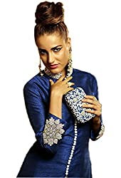 Shreenathji Enterprise Blue Benglore Dress Materials (H134_blue_Free size)