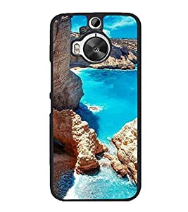 printtech Blue Water Beach Lagoon Nature Back Case Cover for HTC One M9 Plus
