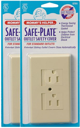 Mommy's Helper - Safe-Plate Outlet Cover - 25pk - Almond - 1