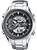 Men's Stainless Steel Edifice Chronograph Analog Digital Black Dial