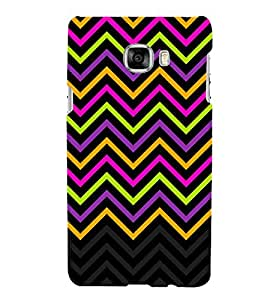 Disco Chevron Lines Cute Fashion 3D Hard Polycarbonate Designer Back Case Cover for Samsung Galaxy C5