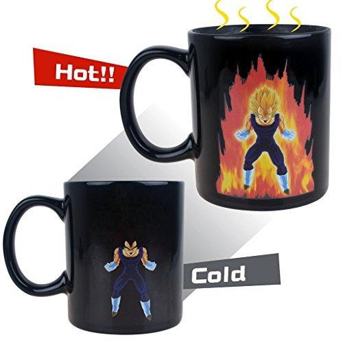 Dragon Ball Z Vegeta Calore reattiva tazza, Makion del fumetto di modo di colore Modifica di ceramica di calore sensibile Cup Per caffè caldo Tè latte 300ML