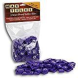 "Scrabble Tiles * - Full Set of 100 ""Cheat Proof"" Plastic Pro Grade Tiles (Purple) - Never Use Wooden Tiles Again"