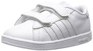K-SWISS Hoke Strap Sneaker (Infant/Toddler/Little Kid), White/White, 7 M US Toddler